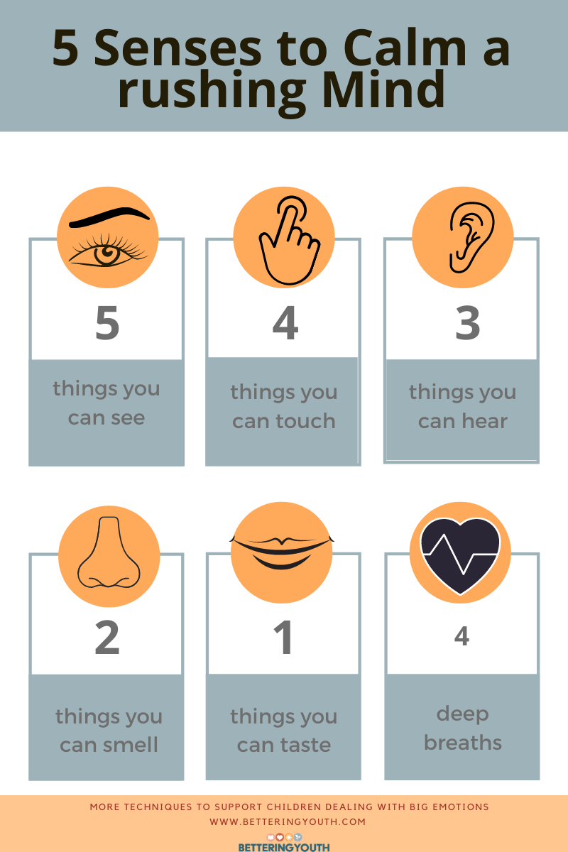 5 senses to calm
