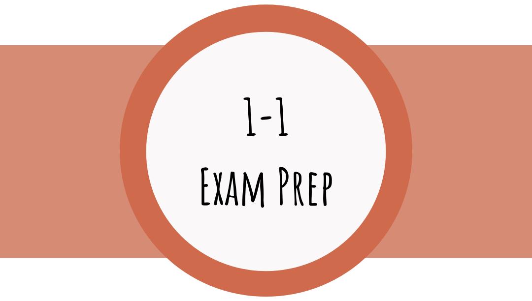 1-1 exam prep for GCSEs
