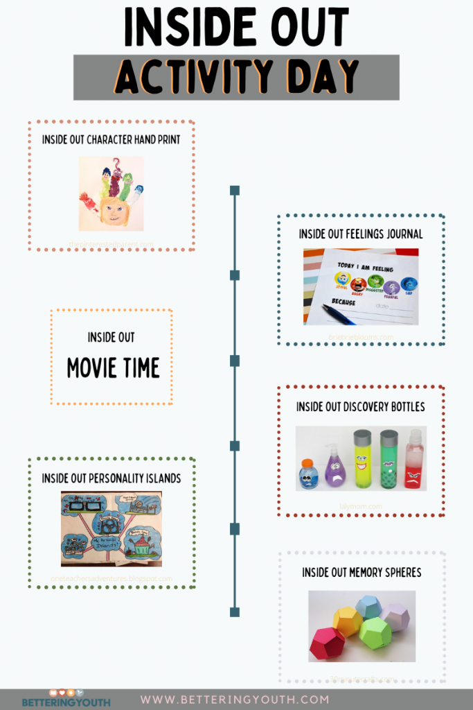Inside Out activities day schedule