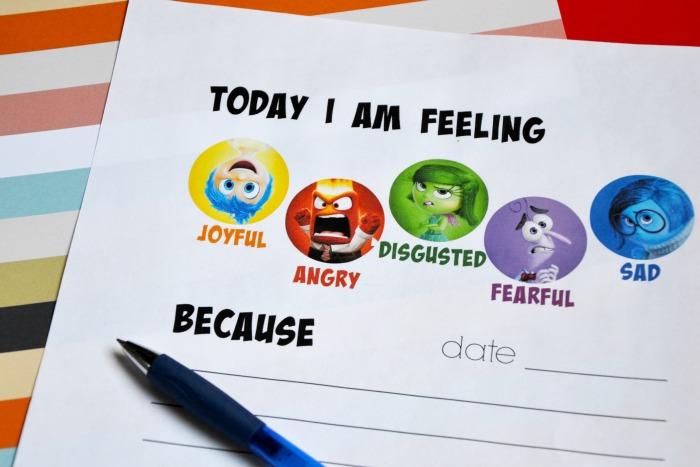 Inside Out feelings journal