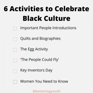 6 Activities that celebrate black culture