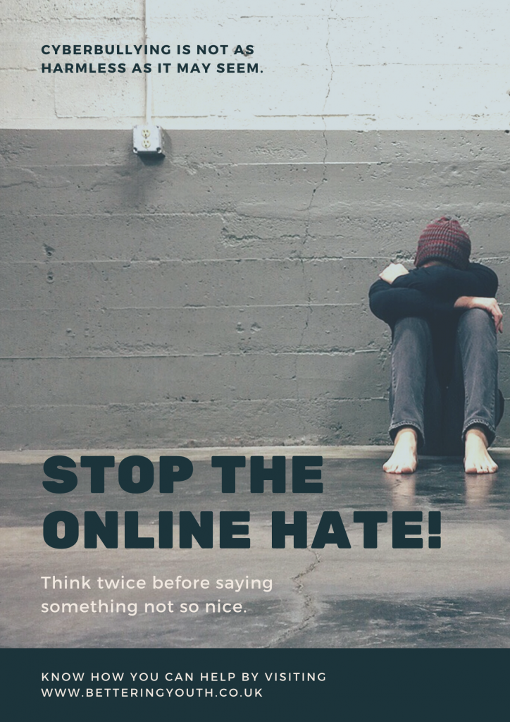Cyber Bullying poster from Bettering Youth