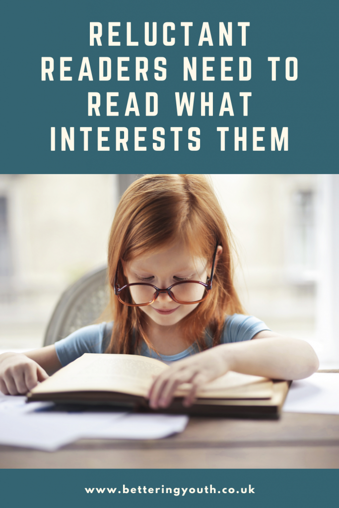 Support reluctant readers by showing them books that pique their interest
