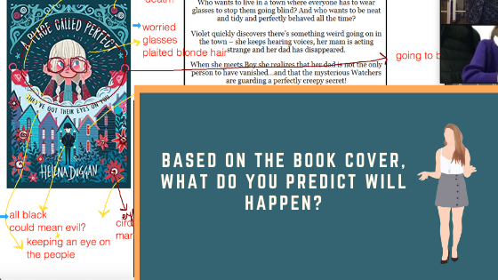 Bettering Youth's annotated book cover to help make predictions