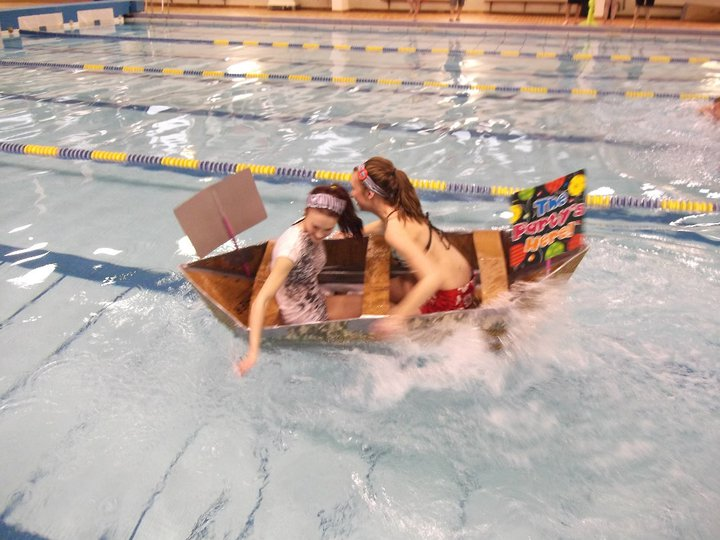 Sarahlynn participating in a boat race