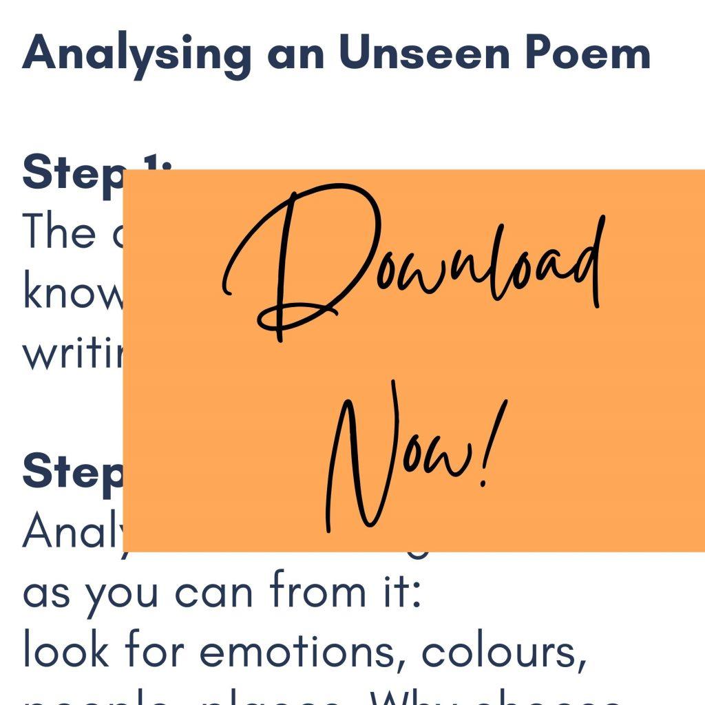 Unseen Poem Steps