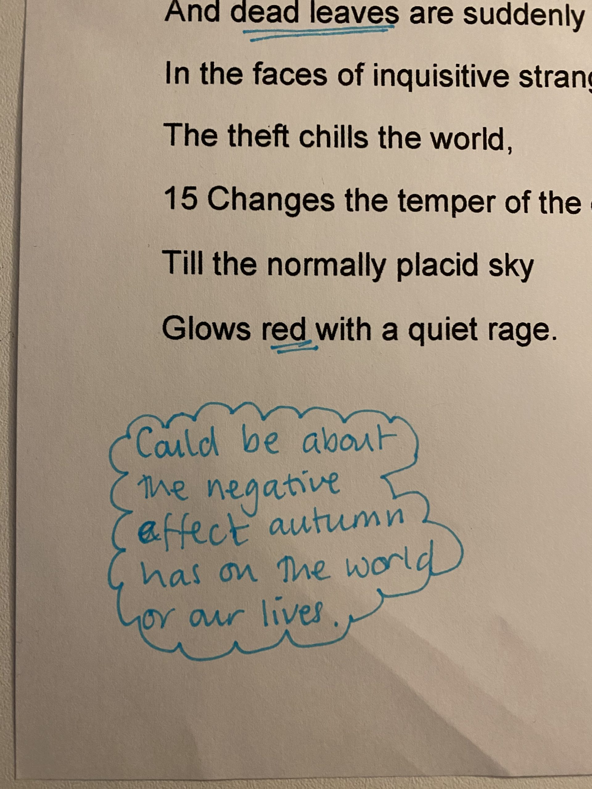 Unseen Poetry annotation